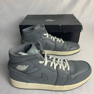 Nike Air Jordan 1 Mid Retro Cool Grey Size 10.5